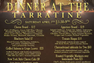 Dinner at the Tarratine April 7 @ 5:30 pm – 9:00 pm