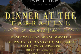 Dinner at the Tarratine Saturday May 26 @ 5:30 pm – 9:00 pm