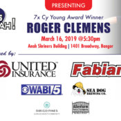 Roger Clemens Is Coming To Bangor March 16