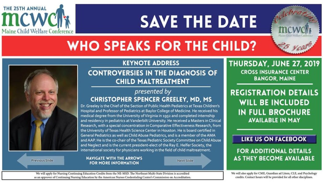 25th Annual Maine Child Welfare Conference