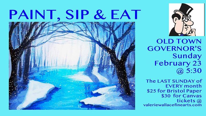 Old Town Governor's Paint, Sip & Eat